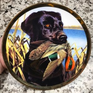 Camp Creek Wall Art - Lab With Teal Camp Creek Collectors Plate!!❤️